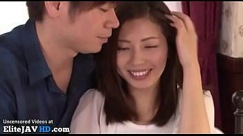 Japanese beauty has sex watching herself getting fucked thumbnail