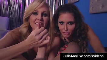 Cock Sucking Milfs Julia Ann & Jessica Jaymes Share A Dick!
