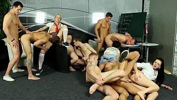 Bi group orgy triple fucktrain