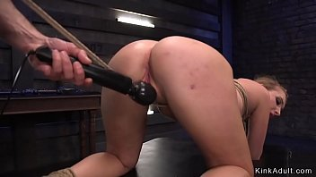 Brunette gets crotch rope and vibrator