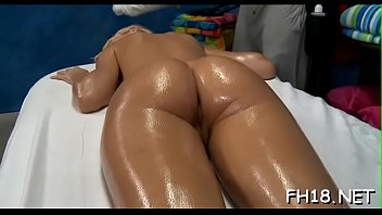 Hot 18 year old gal gets fucked hard from behind by her massage therapist