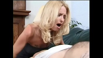 Blonde Candy Apples Rides Midgets Hard Cock While He Lays On Couch