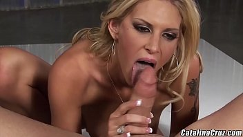Doing a striptease for stepbro Brooke Banner nailed and facialized