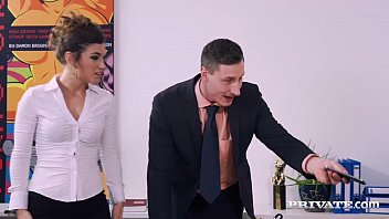 Lingerie doggy style Julia roca has her hairy pussy pounded in the office
