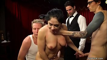Husband dp fucks wife with friends