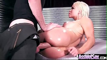 (Nikki Delano) Horny Girl With Big Ass Get Oiled And Anal Nailed clip-25