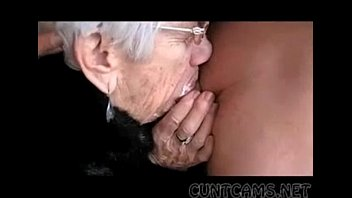 Granny sucks boy Granny sucks boys cock for her birthday - more at cuntcams.net