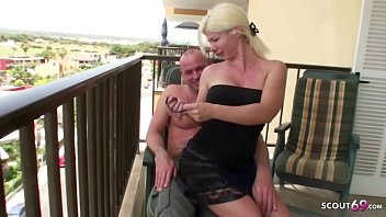 Real Holiday Amateur Sex from German MILF with Cockring Guy