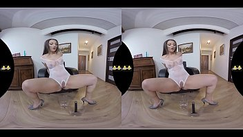 Virtual Reality Piss Play For Sexy Brunette