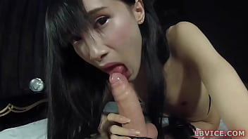 Young Ladyboy Ming Blows Dick And Gets Ass Fucked