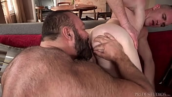 Twink fucked by his Daddy bear landlord