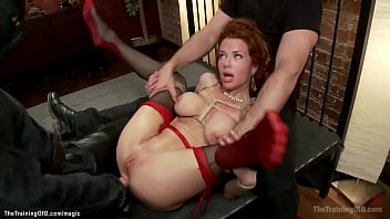 Huge tits MILF throat and butt fucked