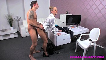 FemaleAgent Arrogant stud put through his paces