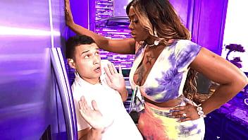 Stepson gets punished by his big black stepmom ...