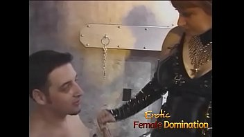Streaming Video Two mistresses team up and dominate Felix in the dungeon - XLXX.video