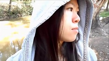 My Cute Asian Girlfriend Sucking Me Off In A Public Park And Swallowing