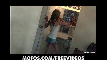 HOT blonde babe Taylor Dare catches her neighbor peeping porno izle