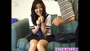 Azusa Miyanaga In School Uniform Sucks Banana And Hard Penis - More At Javhdnet 10 Min