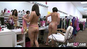 Dressing room cock suckers