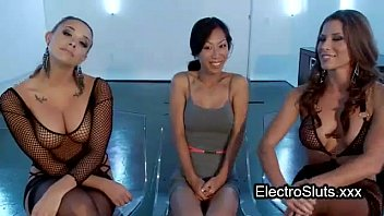 Shackled Wired Asian Ass Fisted In Threesome