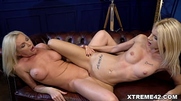 Franny and Missy Luv in a very erotic old and young lesbian scene