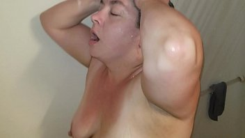 Sexy BBW Takes a Shower and Gets a Facial