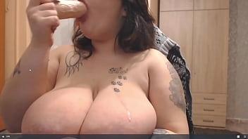 Big Tit Slut Deepthroats And Dirty Talks With Titty Slaps