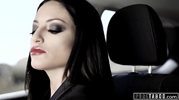 PURE TABOO Couple Picks Up Teen Hitchhiker & Have Threesome thumbnail