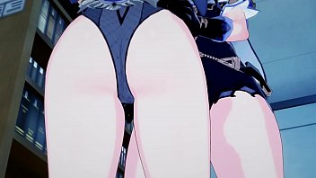 Genshin Impact - Lisa fucks Fischl with a lesbian strapon, 3D Hentai. 15 min