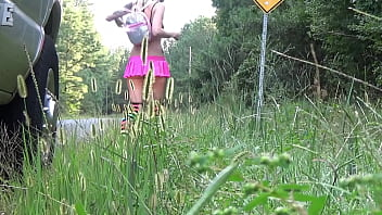 """(Free Version) """"Hitchhiking Rave Slut"""" (Part 1) - Nikki Dicks finds herself lost on the way to Rave. As luck has it, a nice stranger lends his hands to assist.."""