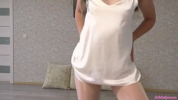 Pantyhose Footjob and Blowjob – Cum in Mouth