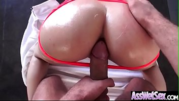 Deep Anal Hard Bang With Big Oiled Butt Horny Sluty Girl (Bibi Noel) clip-13