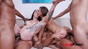Polly Petrova Vs Cris Bathory in 4on2 orgy with DP, DAP and Piss Drinking YE074