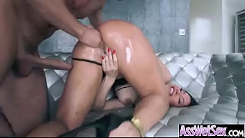 Big Wet Oiled Butt Girl (aleksa nicole) Get Analy Fucked vid-03