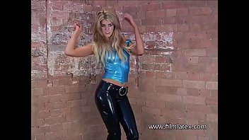 Anias Femdom Blonde In Tight Latexoutfit And Highheel Boots In Latex