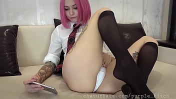 Your stepsister play with pussy after lessons
