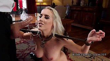 Two blonde stepsis sharing dick in bondage porn image