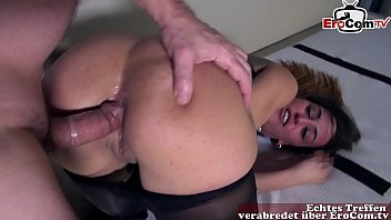 Anal fuck in nylon pantyhose with hot brunette