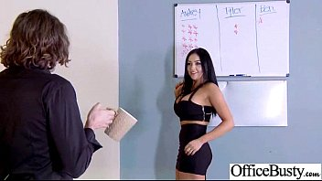 Hard Sex Action With Slut Big Tits Office Girl (audrey Bitoni) Video-07