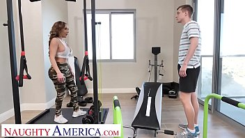 Naughty America Richelle Ryan works up a sweat fucking sons friend