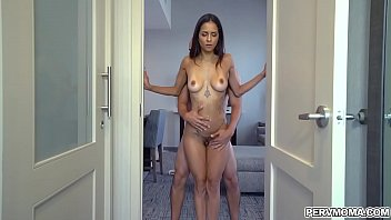 Abbys stepson needs to release some stress and she bends over and rubs her ass on his cock