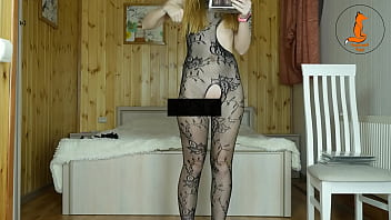 Fishnet try on #6 (Director's cut) 18  version by RedHead Foxy incl no panty segments