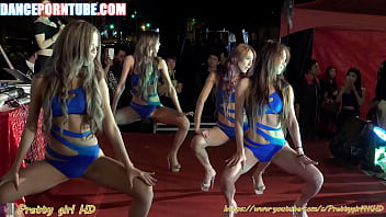 Group Of Asian Whores Dancing Provocatively In Swimsuits