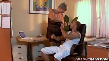 Busty Granny Seduces Young Guy With Her Big Tits 8 min