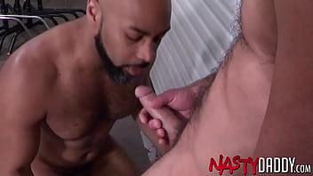 NASTYDADDY Bearded Jake Morgan Swallows Warm Cum After BJ