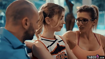 """Coach wife brings in tiny teen cheerleader for husband <span class=""""duration"""">6 min</span>"""