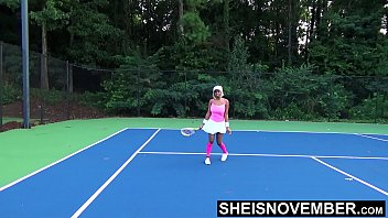 Tiny Ebony Tennis Player Rough Missionary Sex After Lost Match , Msnovember Big Boobs Riding Stranger After Losing Bet On HD Sheisnovember thumbnail