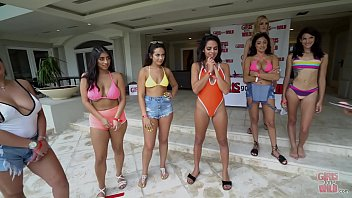 GIRLS GONE WILD - Young Babes In Bikinis Playing Games, h. Out In The Pool