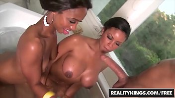 Round pert breasts Realitykings - round and brown - jade nacole, sky banks, voodoo - bathing bootys