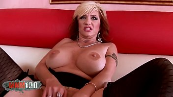 Blonde mature slut fucking a black cock